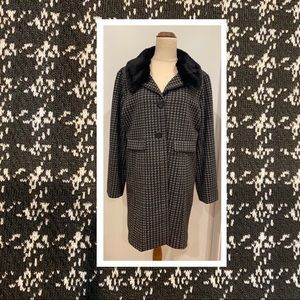 Stella houndstooth coat jacket buttons pockets
